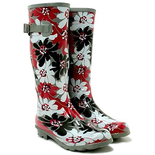 buy online e0585 4434d I Love Shoes Gummistiefel Fest Stiefel, Damen, Blumen, Größe 39