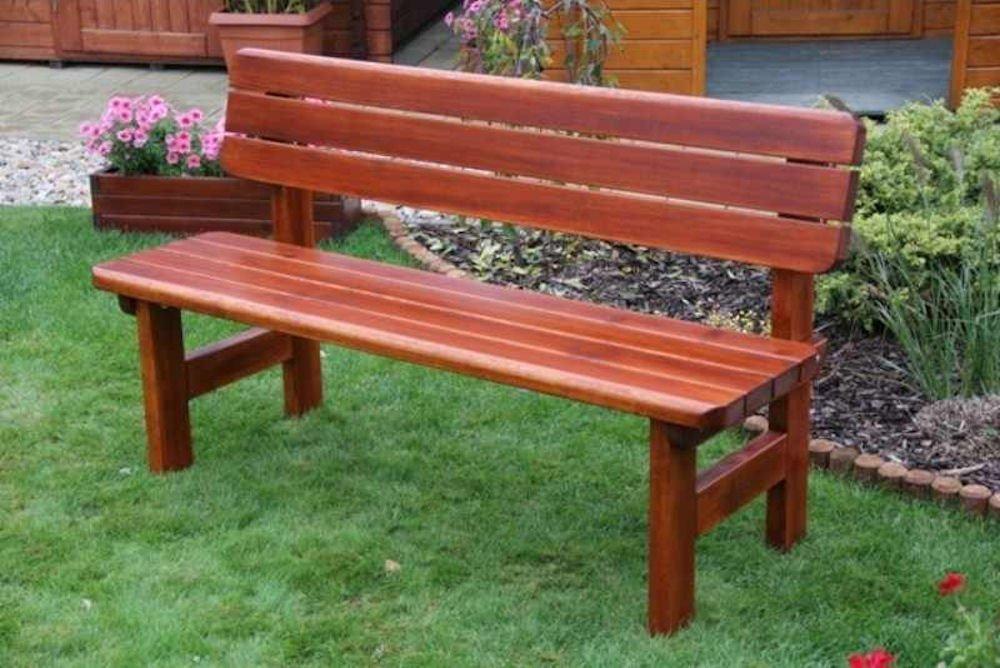 Massivholz Gartenbank Rovna Kiefer , unbehandelt , B 150 cm , Holzstärke : 42 mm !