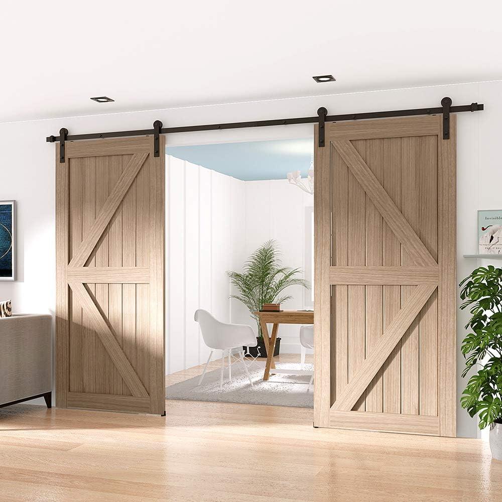 Building Materials Winsoon Sliding Barn Door Hardware Double Door 10ft Track Kit For Interior Exterior Kitchen Cabinet Hallway Tools Home Improvement Elektroelement Com Mk