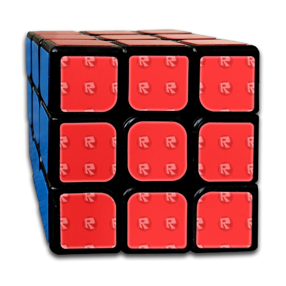AVABAODAN Red R Rubik's Cube Custom 3x3x3 Magic Square Puzzles Game Portable Toys-Anti Stress For Anti-anxiety Adults Kids