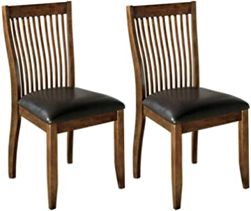 Ashley Furniture Signature Design - Stuman Dining Side Chair - Comb Back - Set of 2