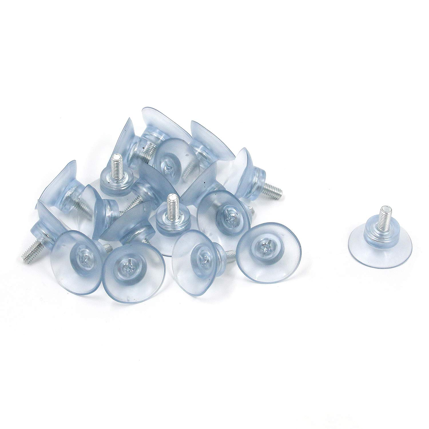MTMTOOL 1.2 Diameter Rubber Strong Suction Cup with M6 Screw for Glass Table Top Pack of 20