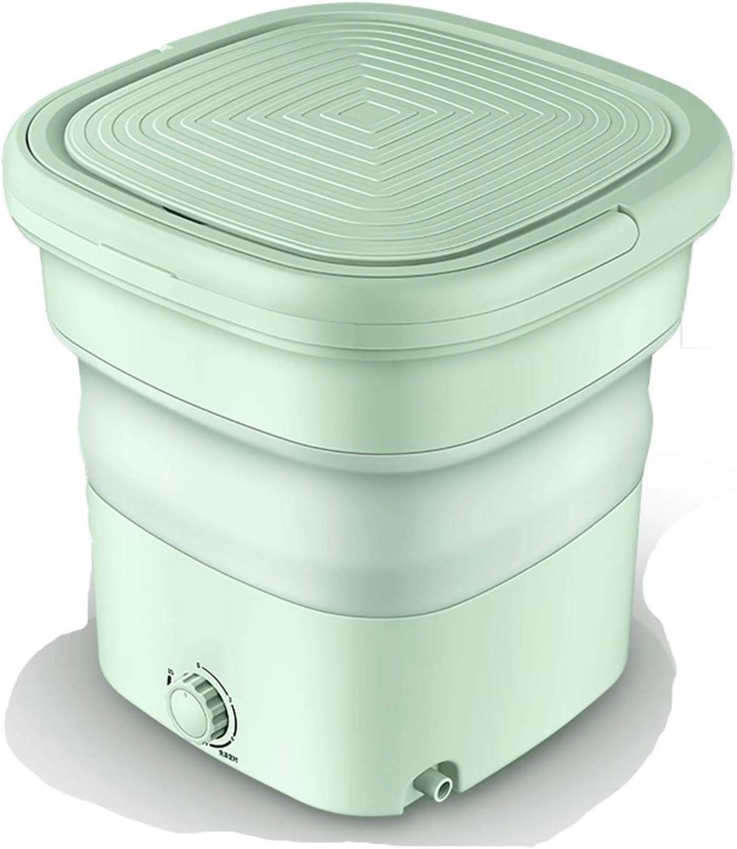 Mini Lavadora Lavadora portátil Esterilización de Ray Ray Mini lavadora MINT Folding lavadora para lavar ropa de bebé, dormitorio de apartamento, viajes, regalo para un amigo o familia Lavadoras Portá