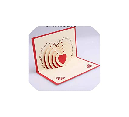 Amazon Greeting Cards3D Pop Up Cards Valentine Lover Happy Birthday Xmas Anniversary Y Office Products