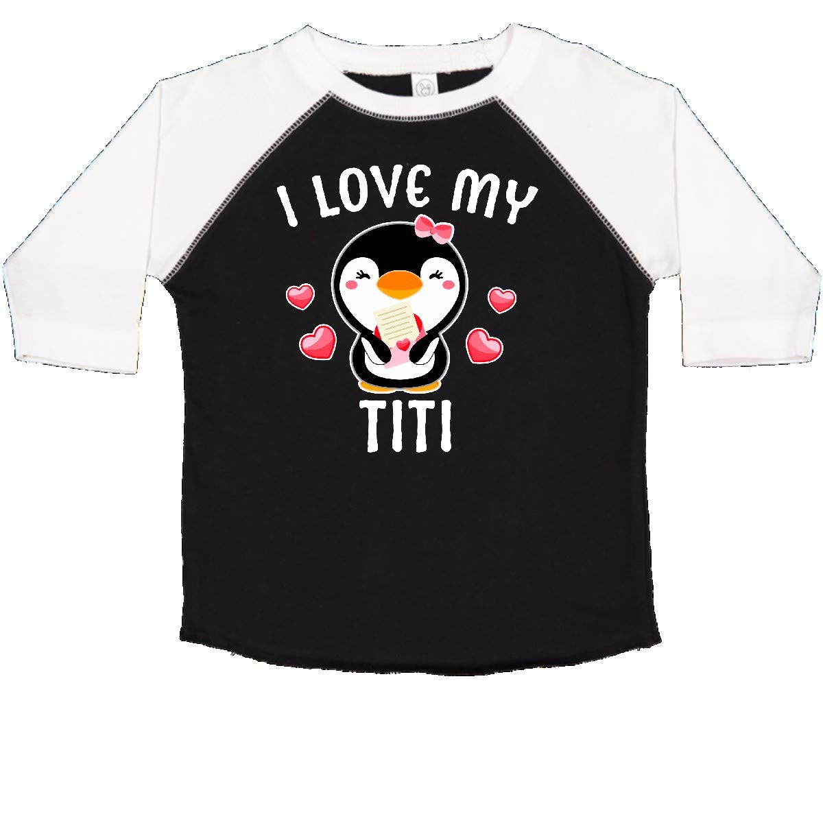 inktastic I Love My Titi with Cute Penguin and Hearts Toddler T-Shirt