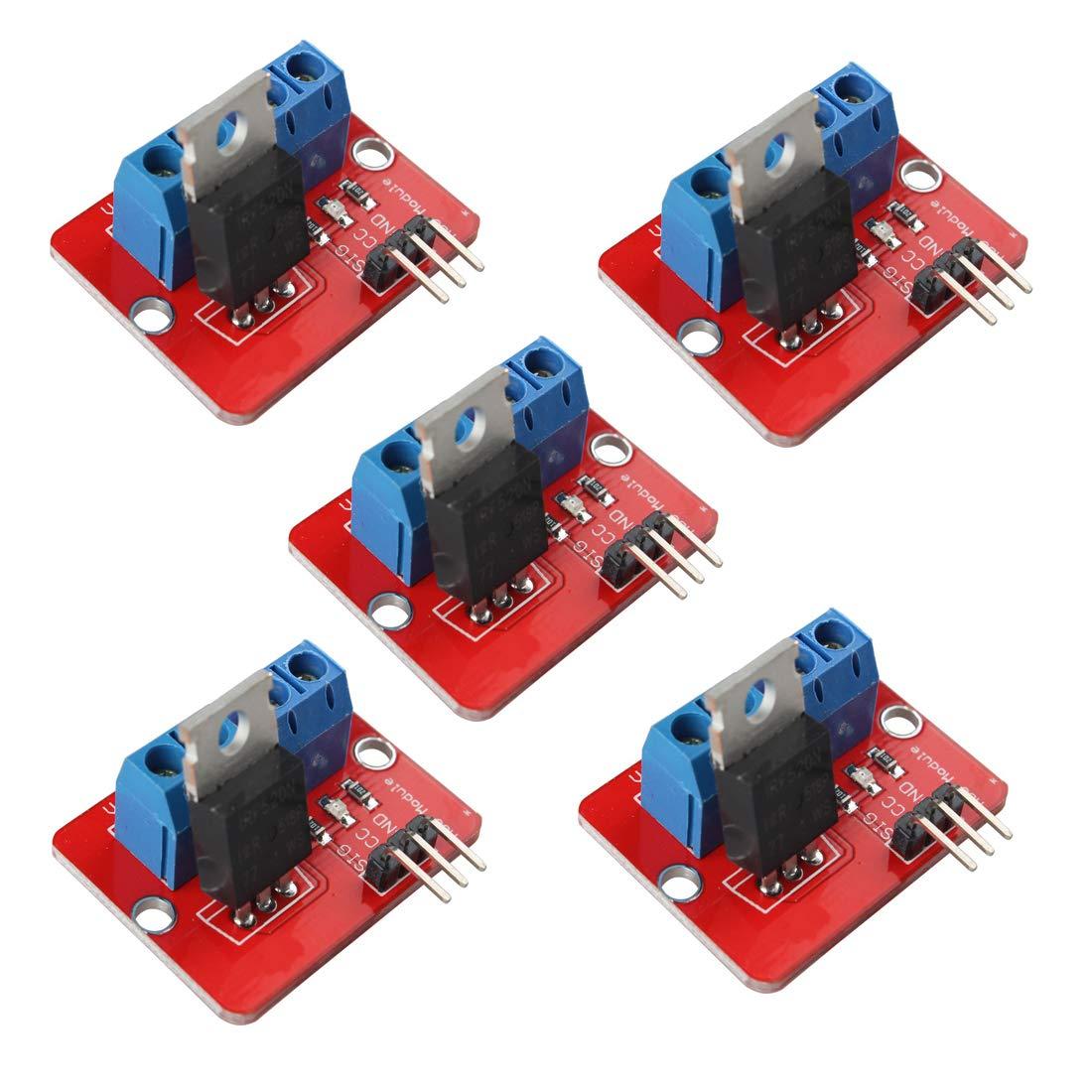 Amazon.com: hiletgo irf520 MOSFET módulo de driver MOSFET ...