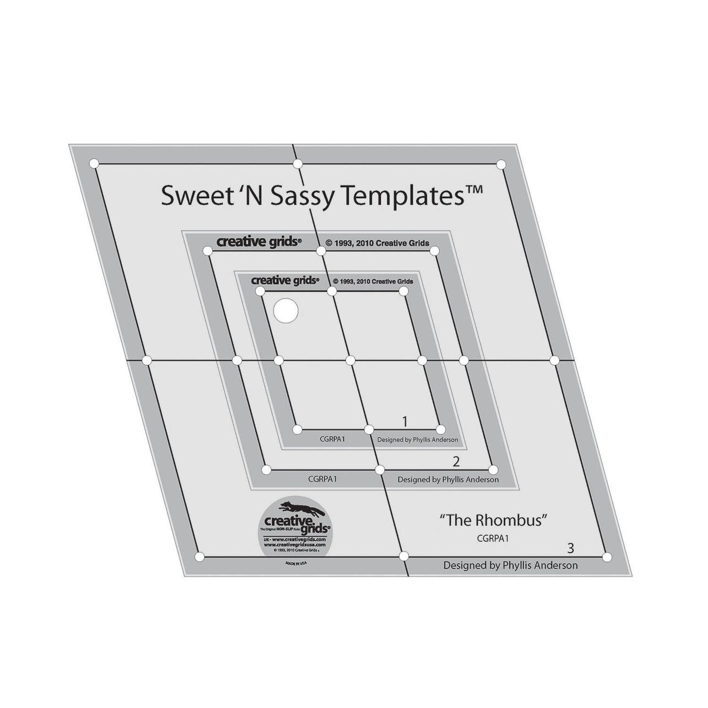 Amazon.com: Creative Grids Sweet \'N Sassy Rhombus Templates: Set of ...