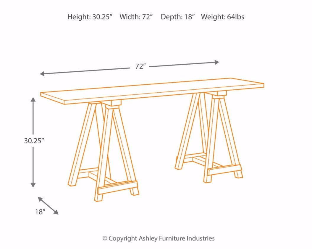 Ashley Furniture Signature Design - Vennilux Console Table - Vintage Casual - Light Brown by Signature Design by Ashley (Image #4)