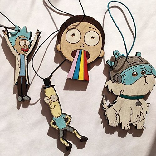 rick and morty delux christmas ornament pack rick and morty eclectic christmas gift