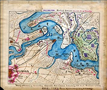 Amazoncom Civil War Map Reprint Map Shewing Sic Country Opposite - Us-map-civil-war-era