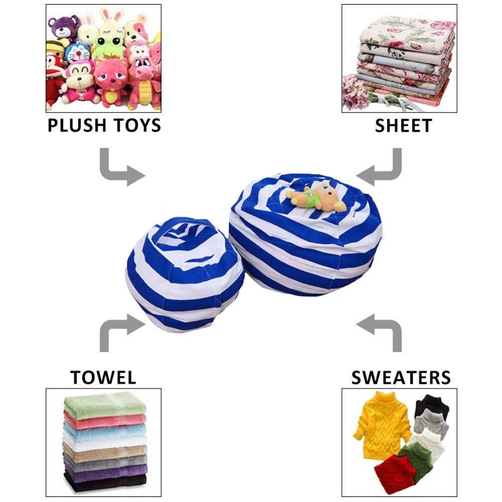 FidgetFidget Home Bean Bag Stuffed Kids Plush Toy Organizer Chair Useful Animal Toys Storage