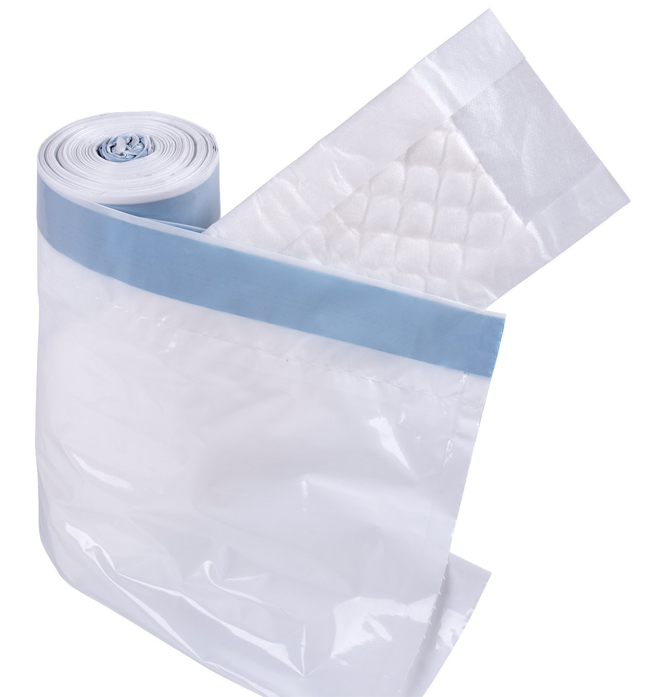 Commode Liners with Super Absorbent Pads, Disposable Commode Liners Pail Bags for Adult Commode Chair Bucket or Bedside Toilet Liners,Universal fit (Pack of 30)
