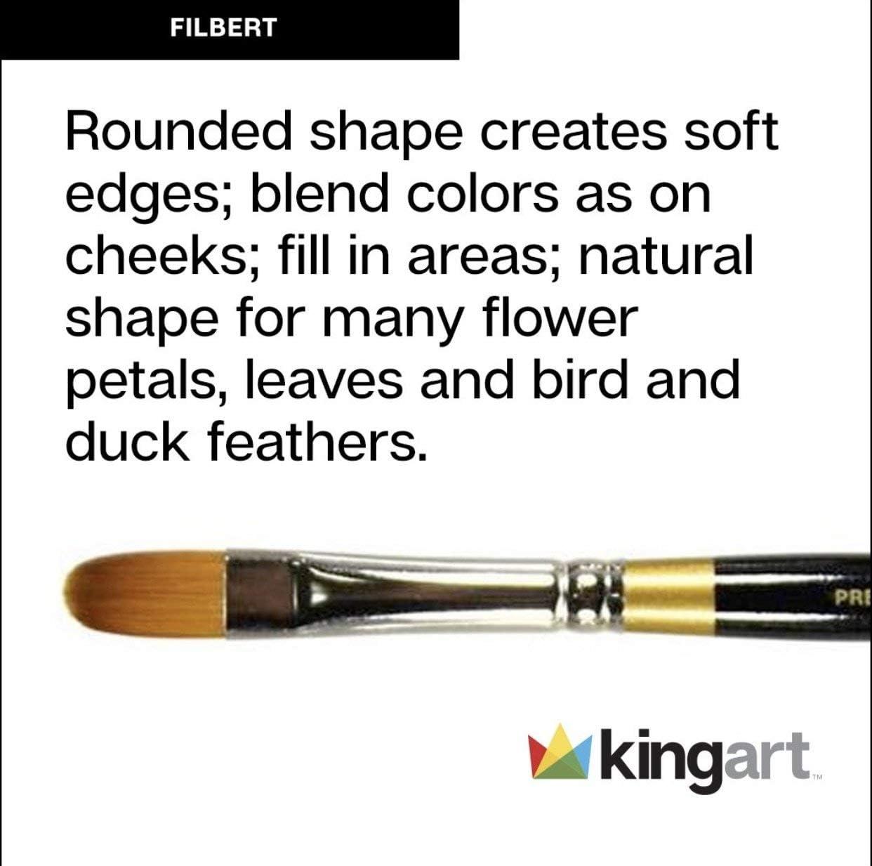 KingArt 9500-14 Original Gold 9500 Series Premium Artist Brush 14