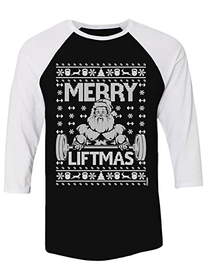 Amazoncom Manateez Ugly Christmas Sweater Merry Liftmas Santa