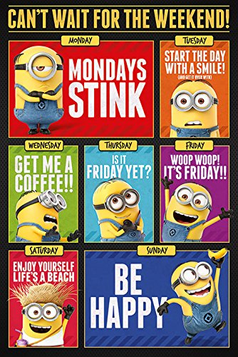 Despicable Me 3 - Movie Poster / Print Minions - Can't Wait For The