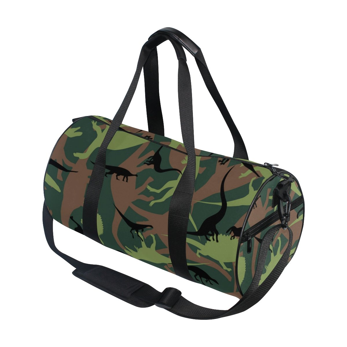 Naanle Dinosaur Camouflage Pattern Army Military Texture Camo Gym bag Sports Travel Duffle Bags for Men Women Boys Girls Kids by Naanle (Image #3)