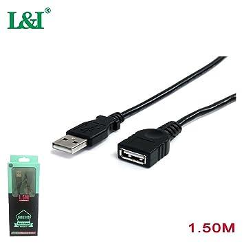 L&I Cable Alargador USB 2.0 Cable Extensor USB 2.0 Tipo A Macho a ...