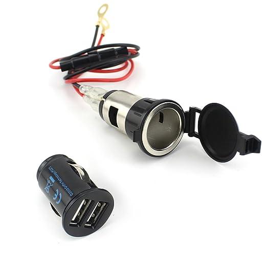 31 opinioni per LEORX Caricabatteria da auto USB impermeabile- 12V 120W auto moto accendisigari