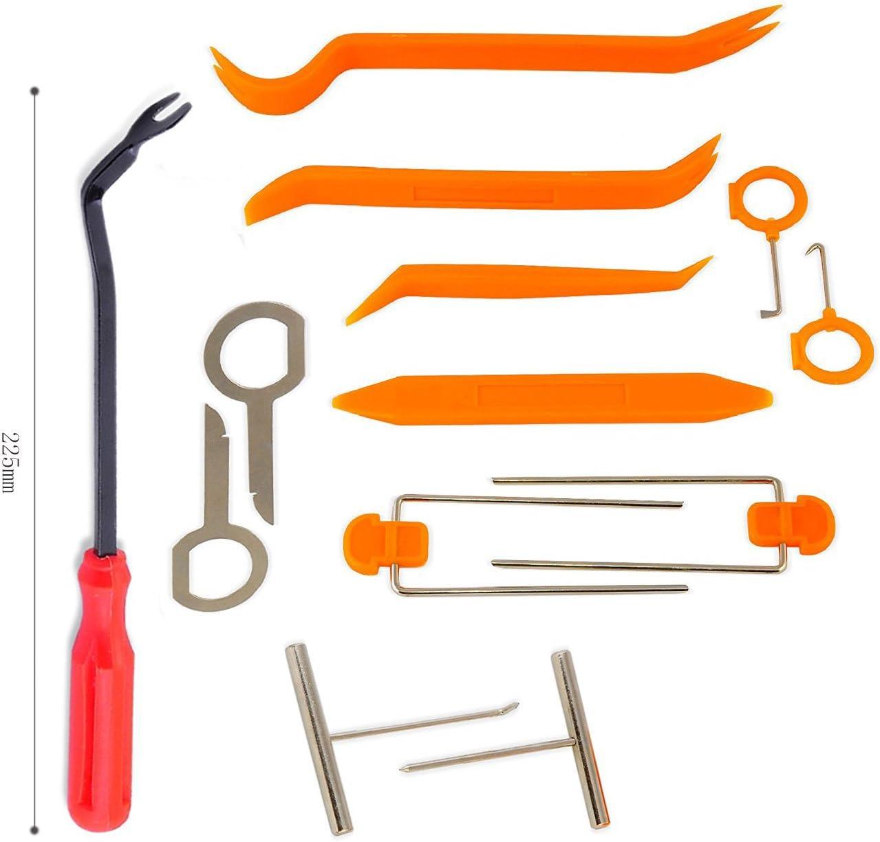 Kit de 12 herramientas para coche, extractores para las puertas, panel de control, rádio, luces + 1 extractor para el cierre
