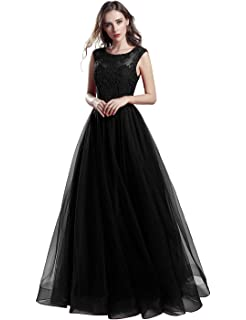 Sarahbridal Women Long A Line Prom Dresses Wedding Party Dress Elegant Ball Gown with Applique SLX561