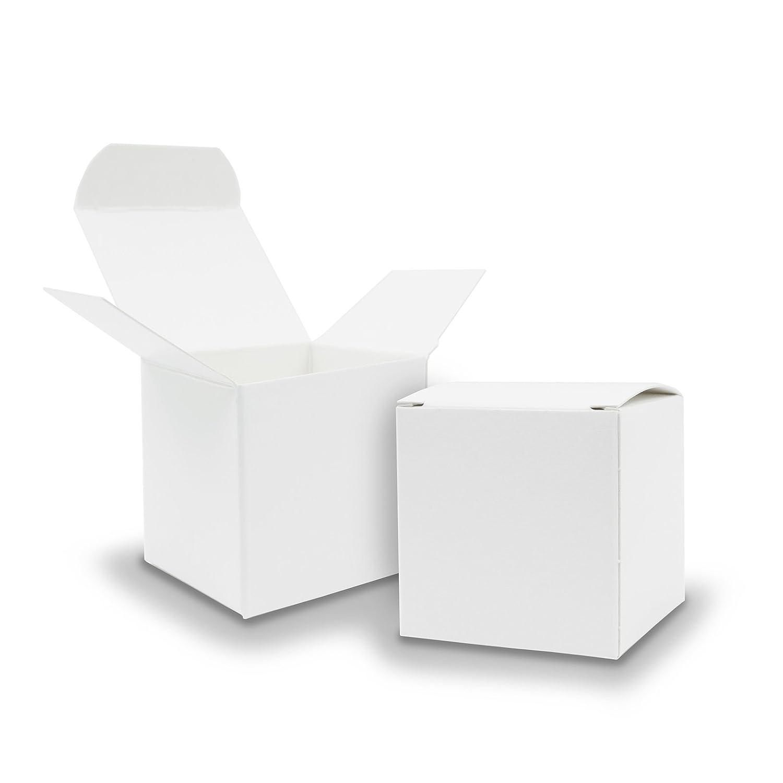 Amazon 25x itenga Würfelbox aus Karton 6 5x6 5cm weiß