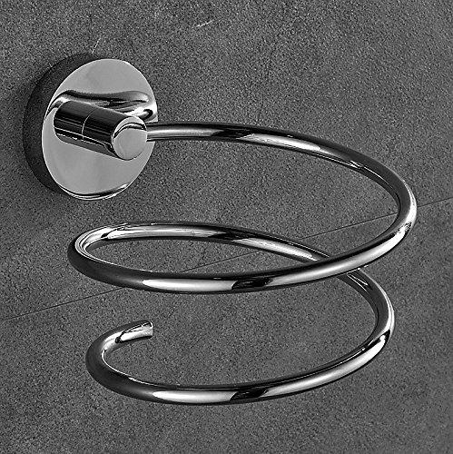 Rovate® Chrom Fönhalter Edelstahl Haartrocknerhalter Halter für Ihre Fön Bad