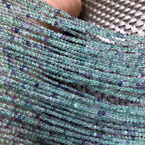 ICNWAY 2-4mm Natural Gemstone Apatite Malachite Epidote Moonstone Fluorite Tanzanite Diopside Round Faceted Loose Beads DIY Bracelet Necklace Making Jewelry