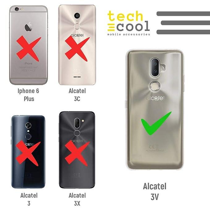 Funnytech® Funda Silicona para Alcatel 3V [Gel Silicona Flexible ...