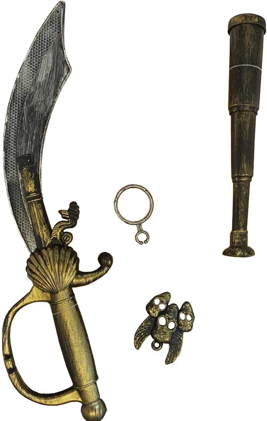 Set de Espada Pirata de Juguete Conjunto 4 uds