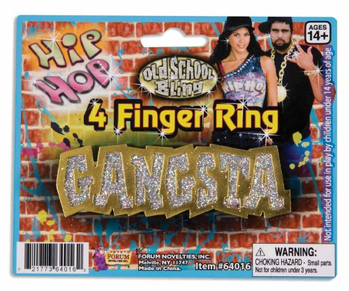 4 Finger Rings (Forum Novelties 64015 Gangsta 4-Finger Ring - One Size)