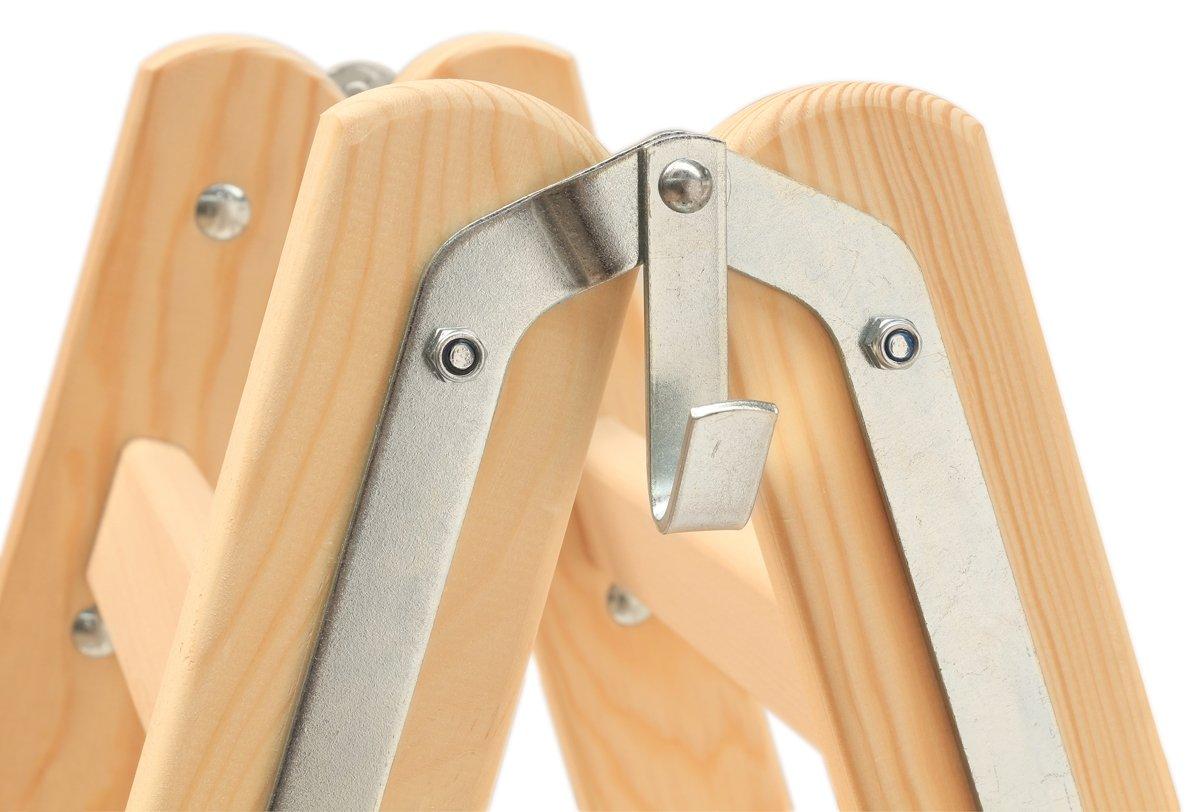 Hymer Holzleiter Sprossenstehleiter 2x8 Sprossen Stehleiter Leiter Holz 7141016