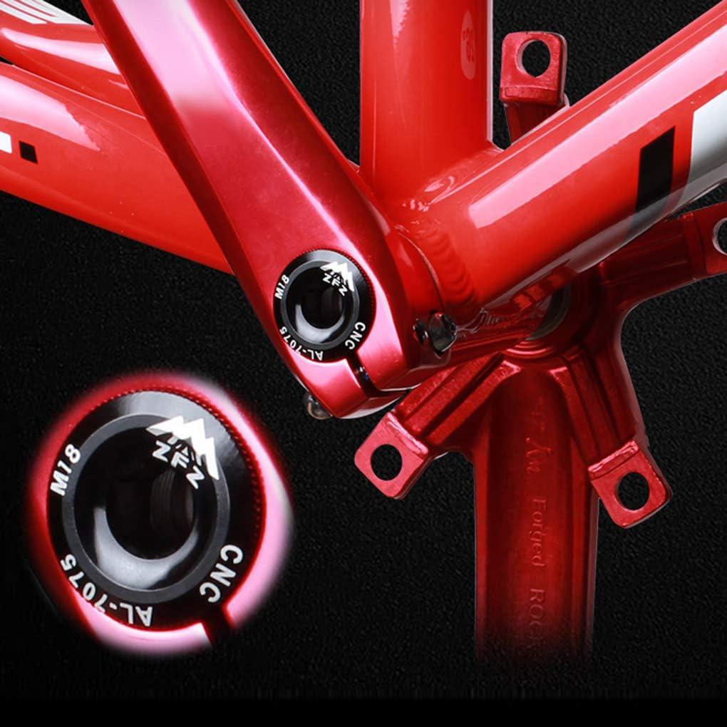 Junecat Aluminum Alloy Mountain Bike Tooth Plate Crank Cover Bike Cover Bicycle Crankset Screw Cap Fixing Bolt