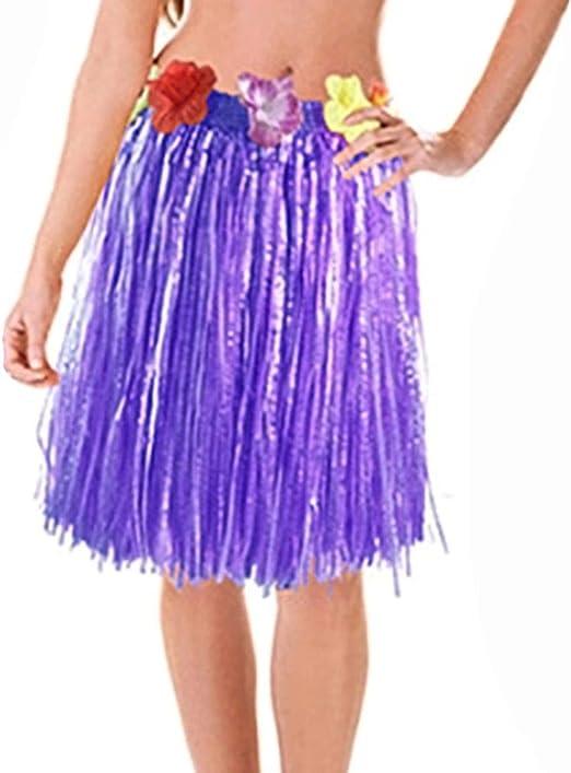 Xiang Ru Hula Falda de Hierba Falsa Flor Hawaiana elástica Vestido ...