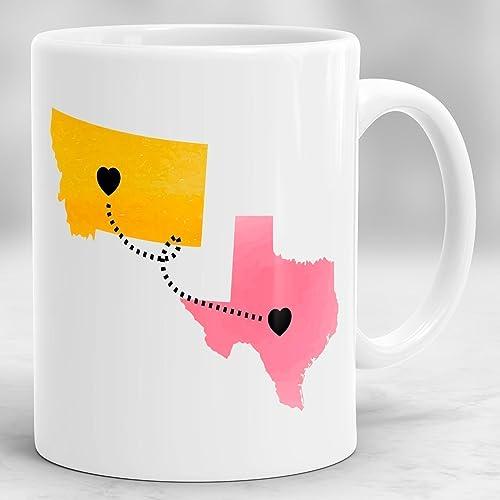 amazon com long distance mug state to state mug custom long