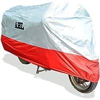 AHL Funda para Moto Funda Protector Cubierta Resistente A Prueba de UV (Rojo,L)