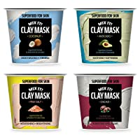 FARMSKIN Clay Mask Super Food Mix it! Set (Pack of 4) for Face and Body