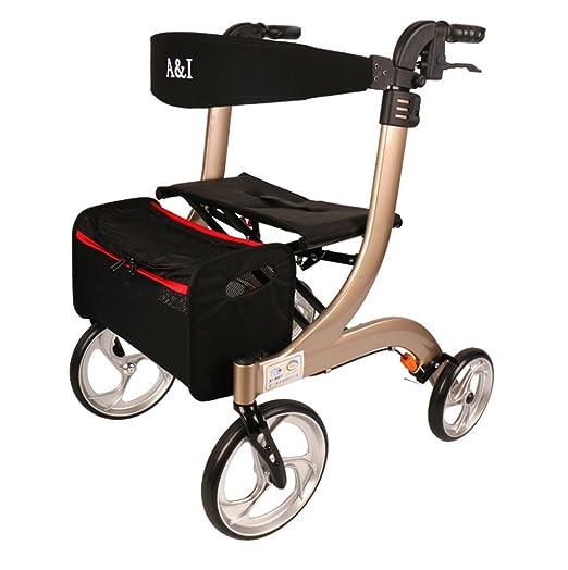 Tochange Andador Plegable Ayuda para Caminar, Trolley Mayor ...