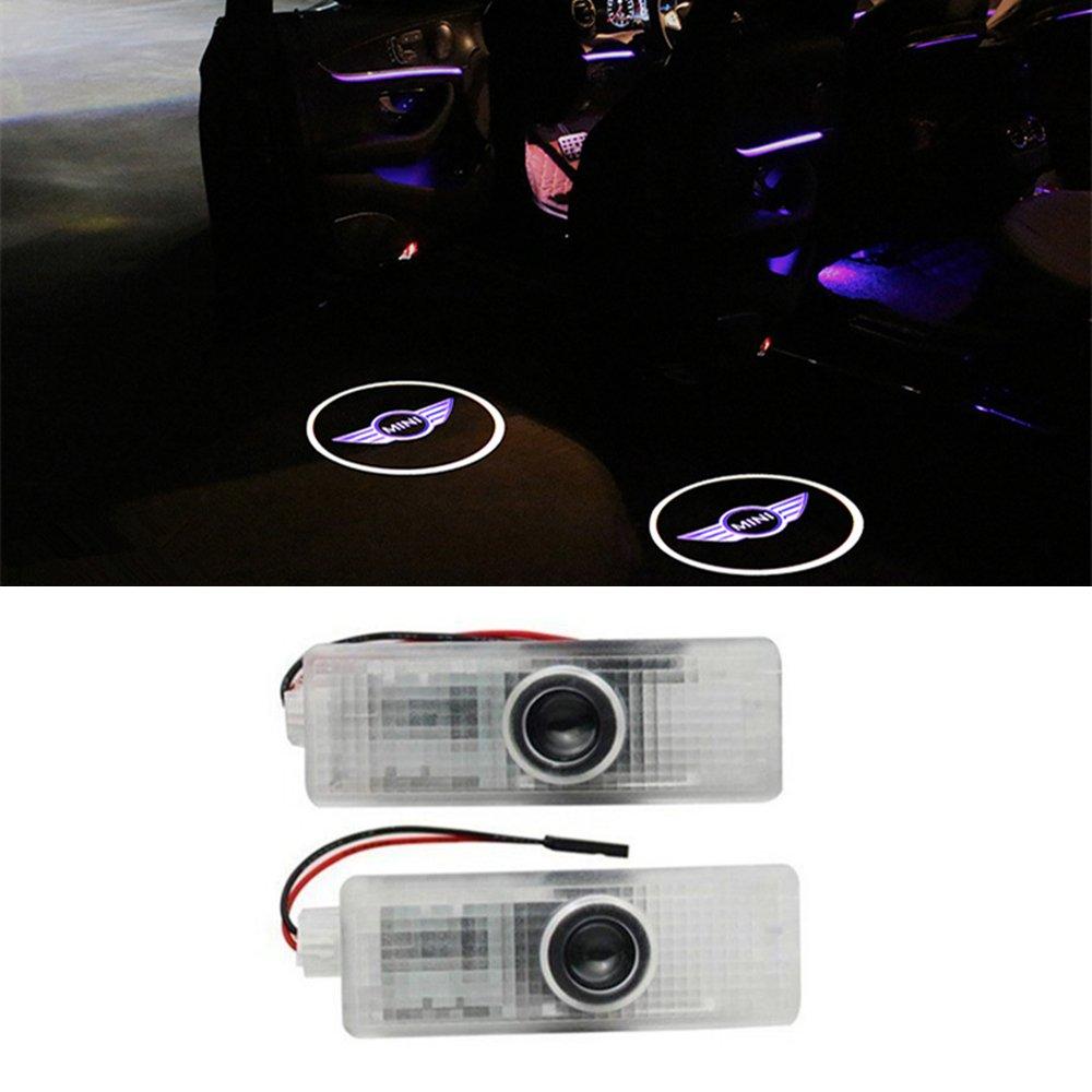 ZNYLSQ LED Portiera Luci Logo Proiettore Benvenuto Luce,LED logo porta auto car