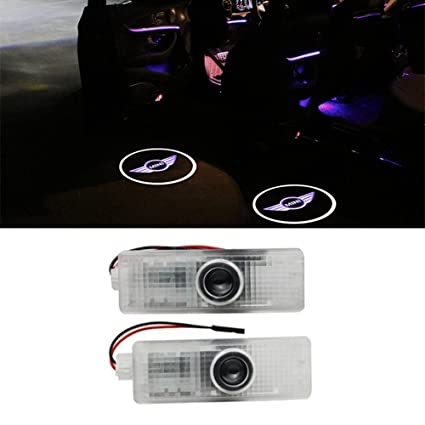 ZNYLSQ Coche Logo LED Proyector luces puerta, 2 PC Coche LED Logo ...