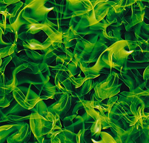 Hydrographic Film   Water Transfer Printing   Hydro Dipping   Extreme Flamesgreen   1 Sq  Meter