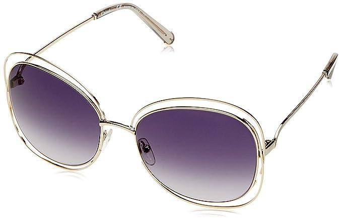 Chloè Ce119s Gafas de Sol, Gold/Light Grey, 60 para Mujer ...
