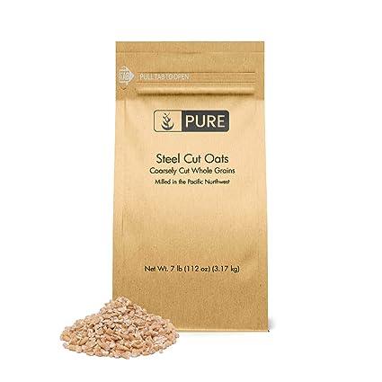 Avena de corte de acero (7 libras) de Pure Organic ...