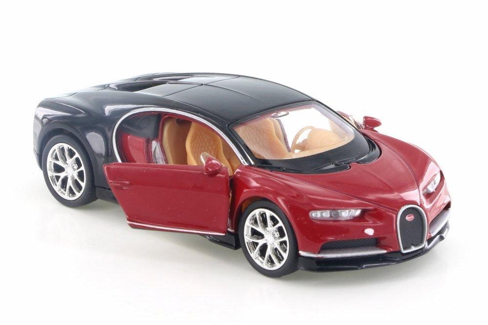 Amazon.com: Bugatti Chiron, rojo w/negro – Welly 43738d ...
