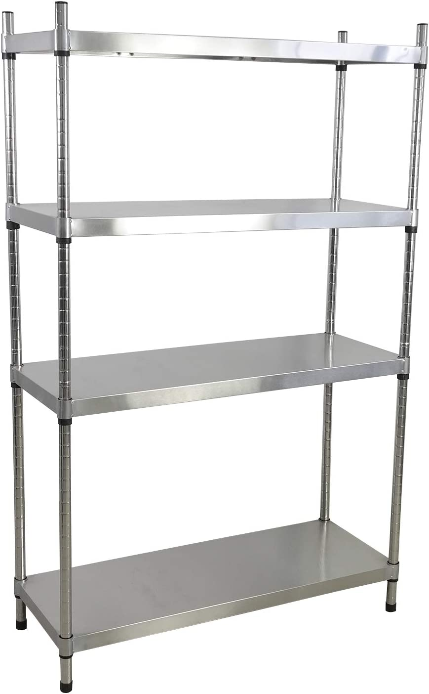 Joyeen 4 Tier Adjustable Shelves, Stainless Steel Shelving Unit, Adjustable Storage Shelves Racks