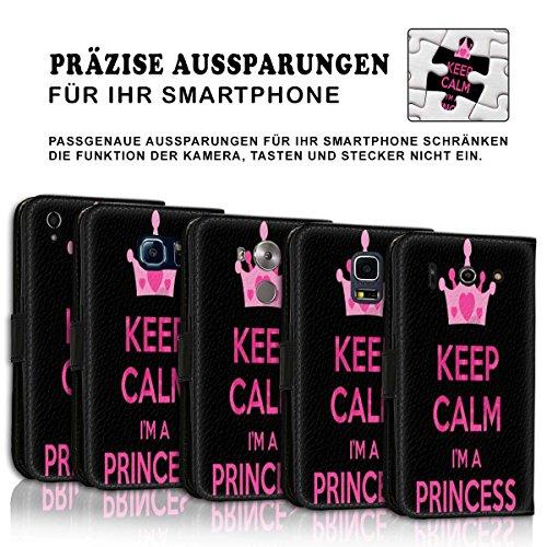 Wallet Book Style Flip Handy Tasche Case Schutz Hülle Schale Motiv Etui für Apple iPhone 5 / 5S - Design Flip MVD404
