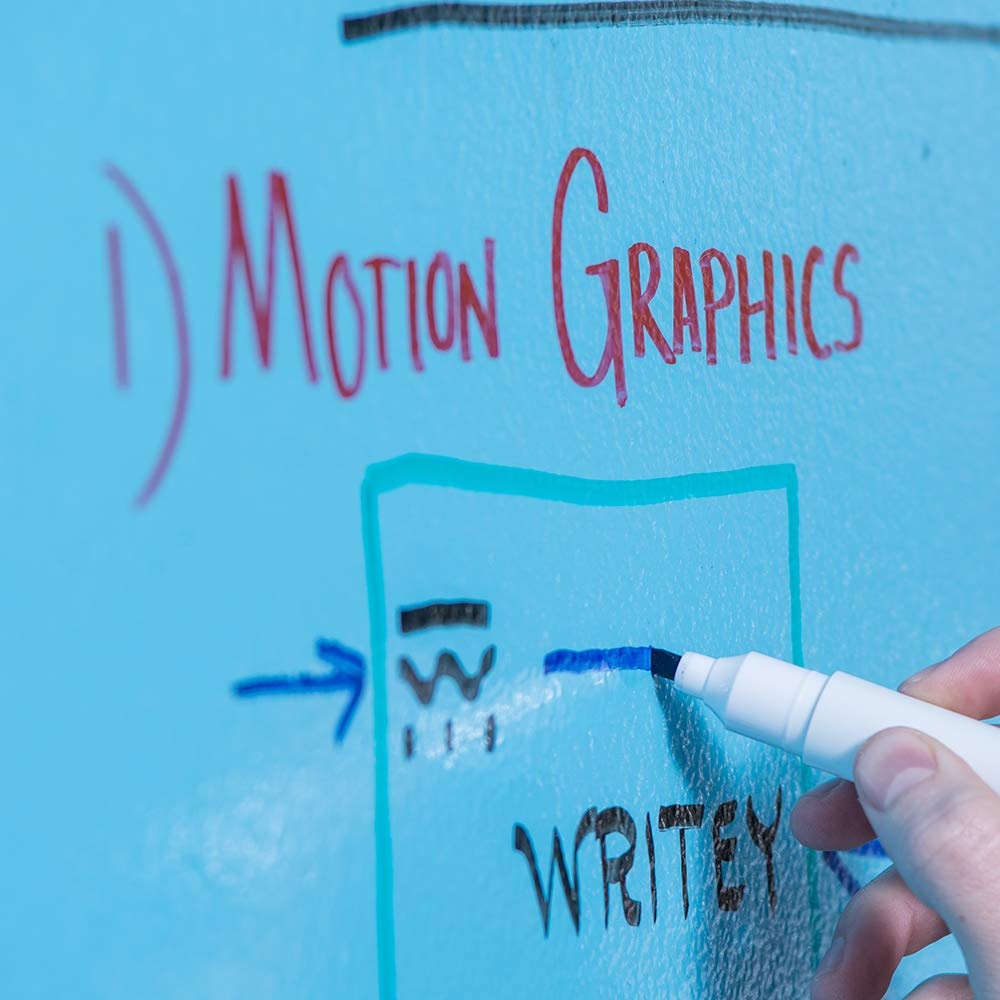 Writey Board, Clear Whiteboard Paint, Write on in 72 Hours, Includes 9 Inch Roller, Covers 50 Square Feet by Writey Board (Image #3)