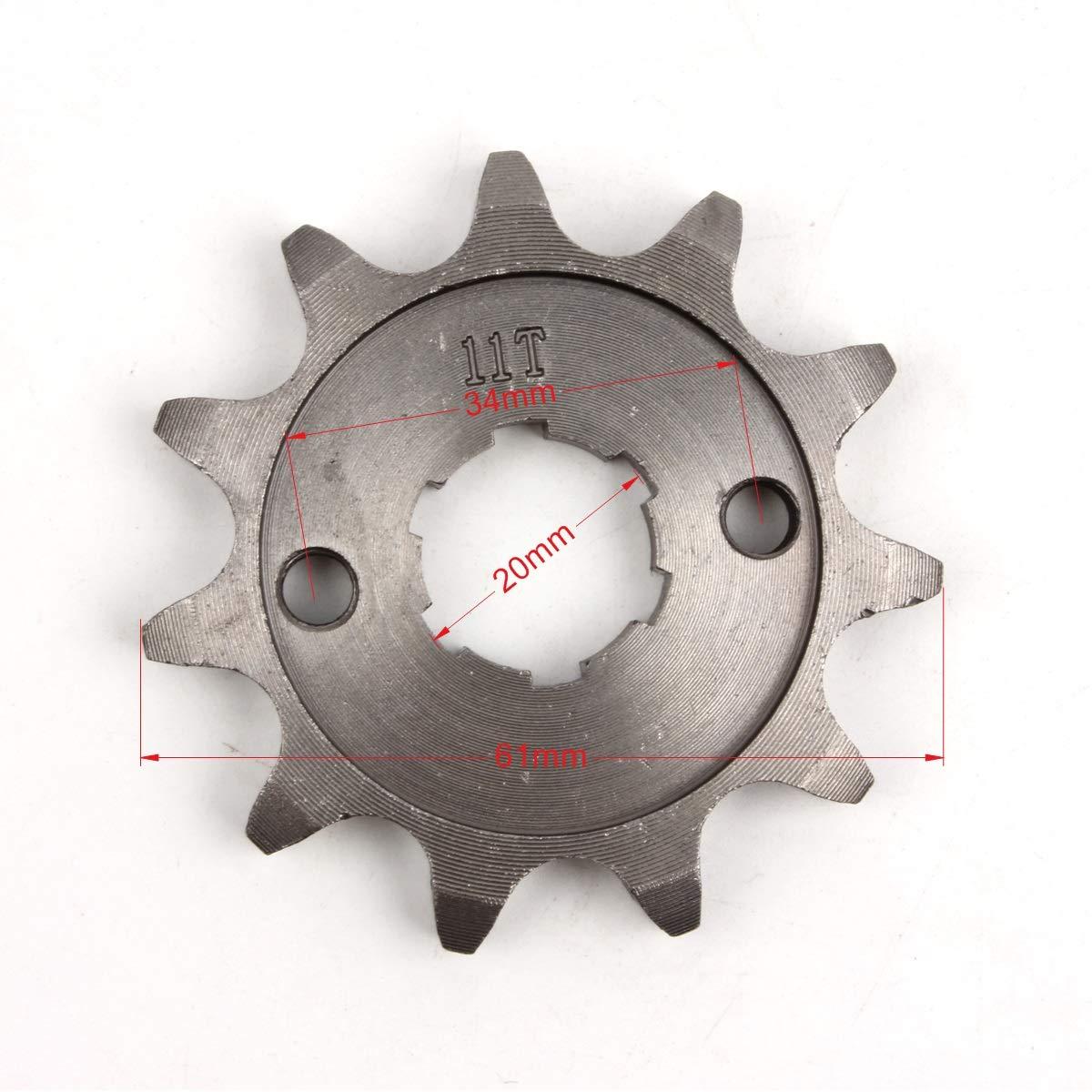 PRO CAKEN 530 11T Front Sprocket with Retainer Plate for Dirt Pit Bike ATV Go-kart DirtBikeClub 5559104759