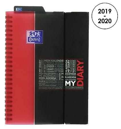 Oxford 100735781 Student – Agenda escolar (semanal 2018 – 2019 1 semana en 2 páginas, 15 x 21 cm, rojo