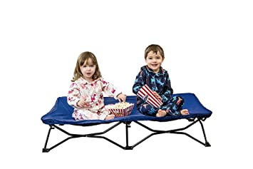 Regalo My Cot Portable Toddler Bed Includes Fitted Sheet And Travel Case Royal Blue