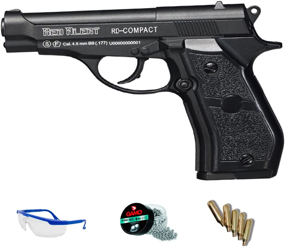 PACK pistola de aire comprimido - balines de acero. Gamo Red Alert RD Compact cal 4.5mm. <3,5J
